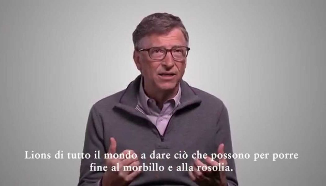 Un Messaggio ai Lions da Bill Gates